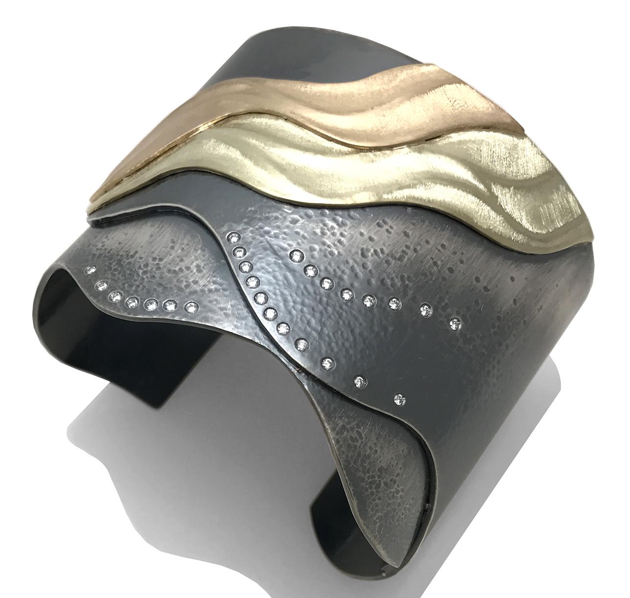 Shoreline cuff bracelet