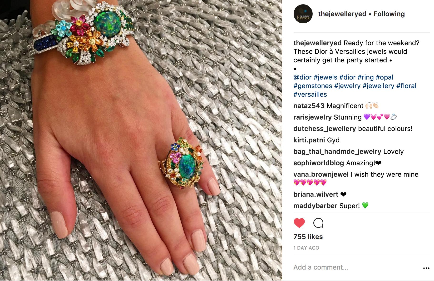 @thejewelleryed Instagram | JCK Social Setting