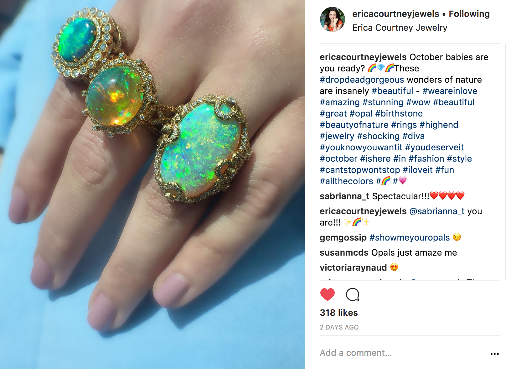 @ericacourtneyjewels Instagram | JCK Social Setting