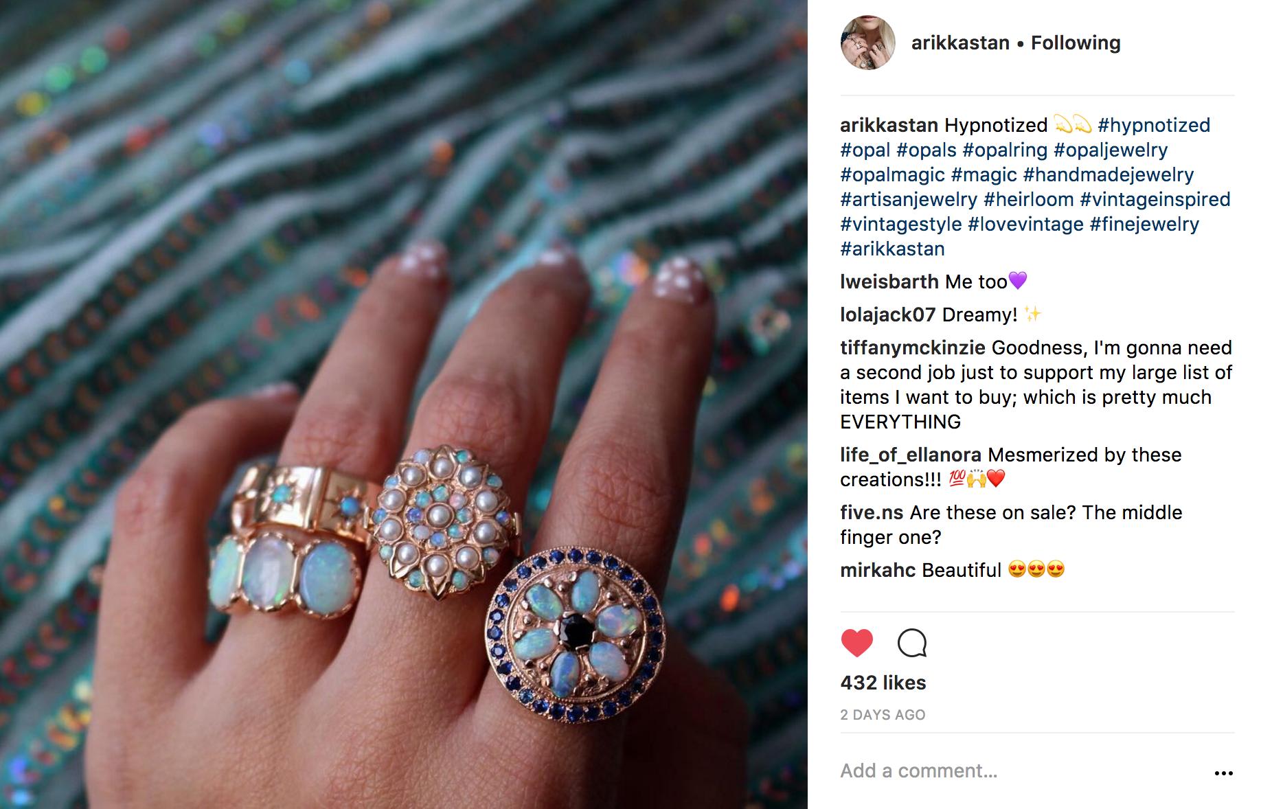 @arikkastan Instagram | JCK Social Setting