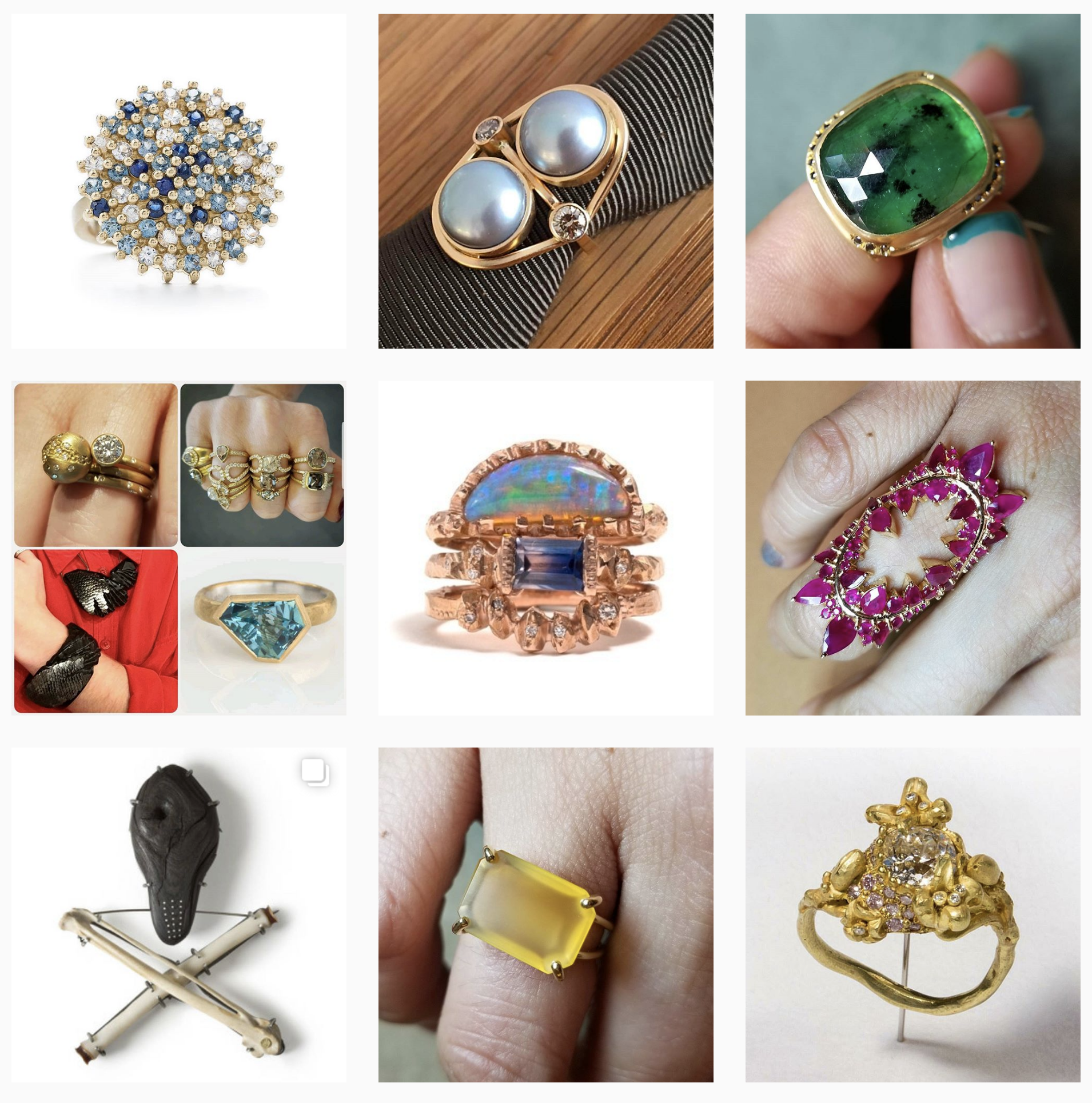 A thousand facets rings