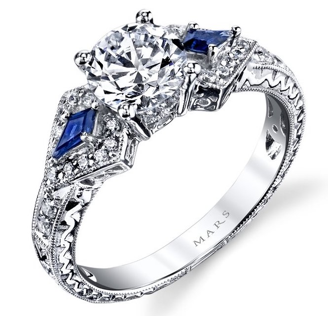 MARS diamond and sapphire engagement ring | JCK On Your Market