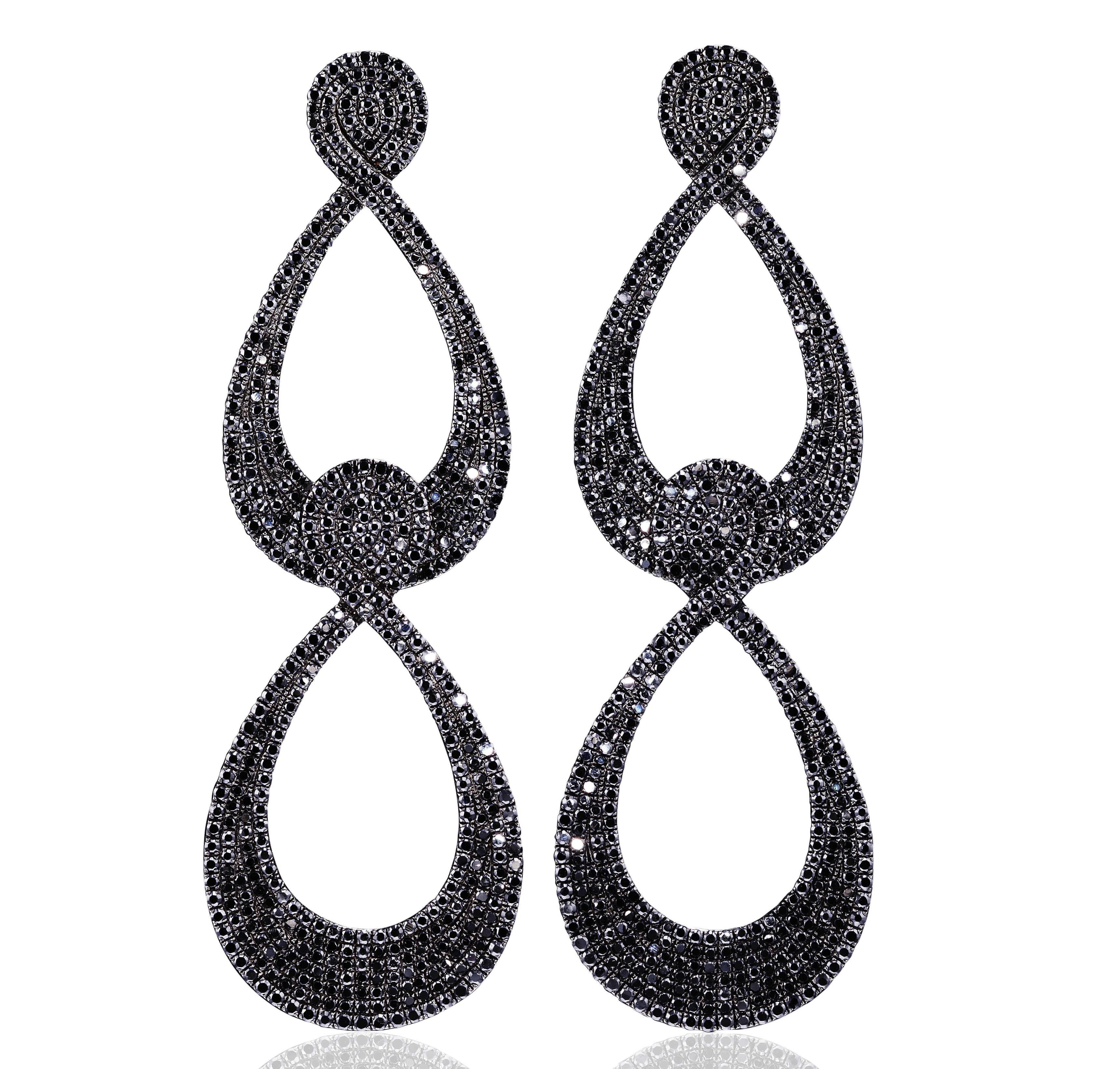 AS29 black diamond earrings | JCK On Your Market