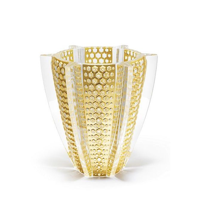 11 Lalique gold and crystal vase