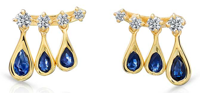Maria Canale sapphire earrings