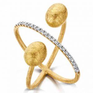Nanis gold and diamond wrap ring