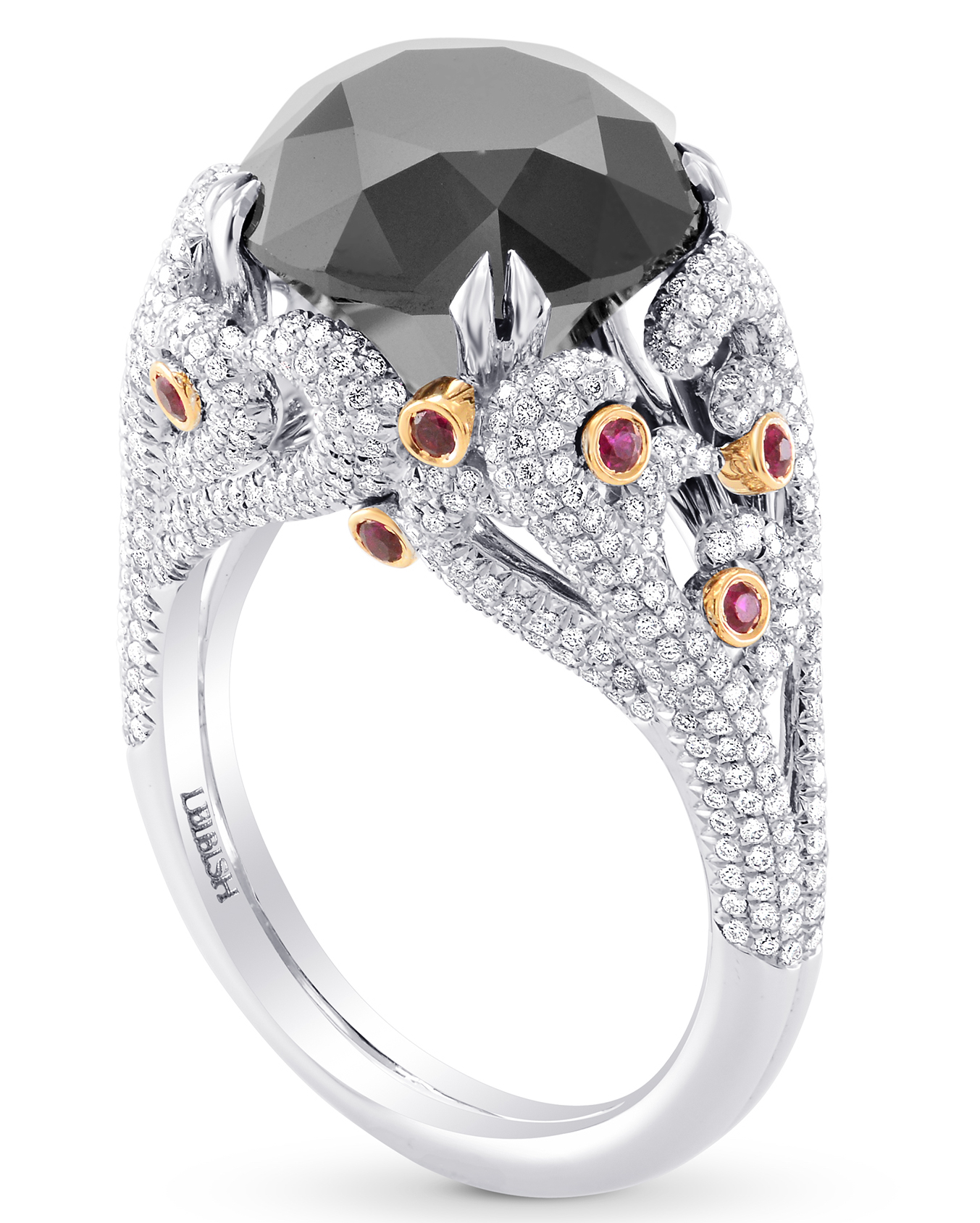 Leibish and Co. black diamond ring | JCK On Your Market