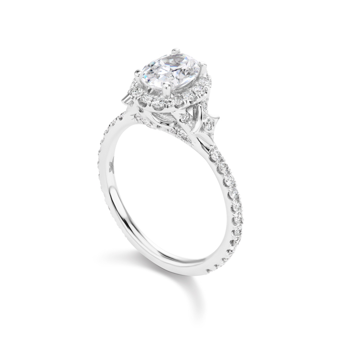 Jordan Alexander 18k white gold and diamond engagement ring