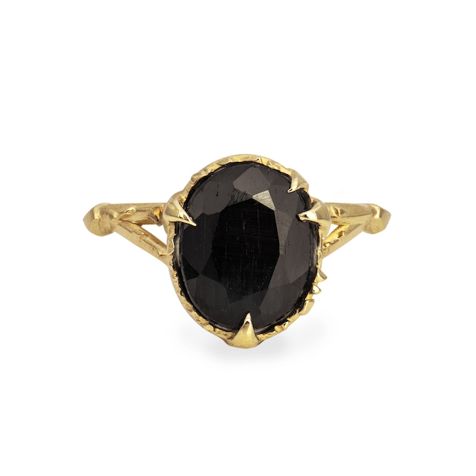 4 Karch Wolfe Mystical Solitaire Dark Blue Sapphire Ring
