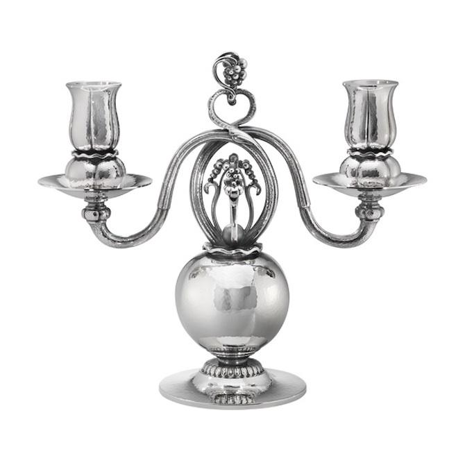 7 Georg Jensen silver candelabra