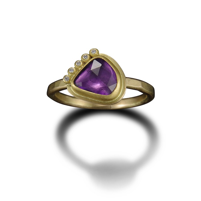 Ananda Khalsa 22k purple sapphire ring