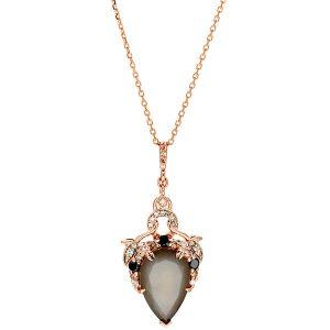 Anna Sheffileld Celestine pear pendant