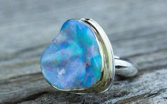 By Jodi ring with custom-carved opal