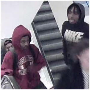 Chicago robbery suspects on escalator