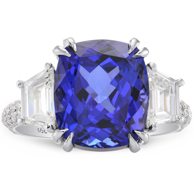 Leibish and Co. tanzanite and diamond ring | JCK On Your Market