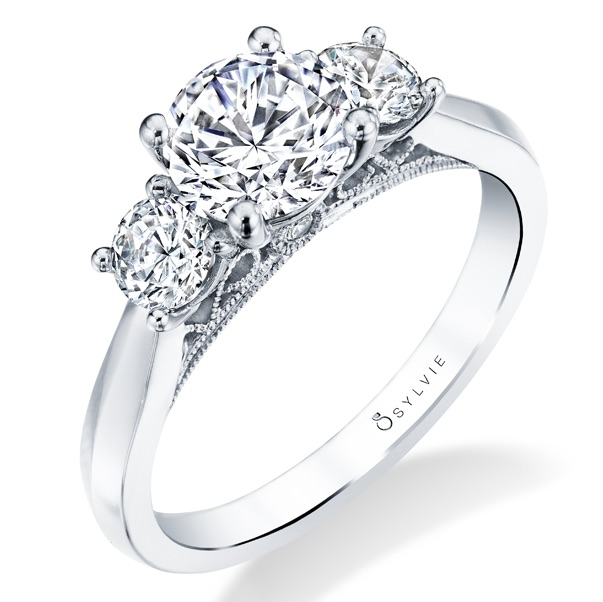 Sylvie Collection three stone engagement ring | JCK On Your Market