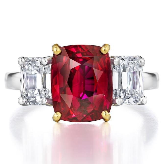 Oscar Heyman ruby and diamond ring | JCK On Your Market