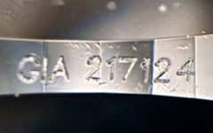 GIA false diamond inscription