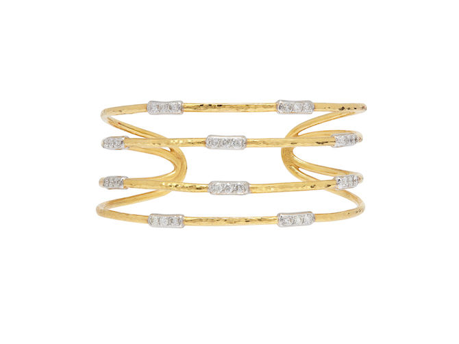 Gurhan 22k and diamond gold cuff
