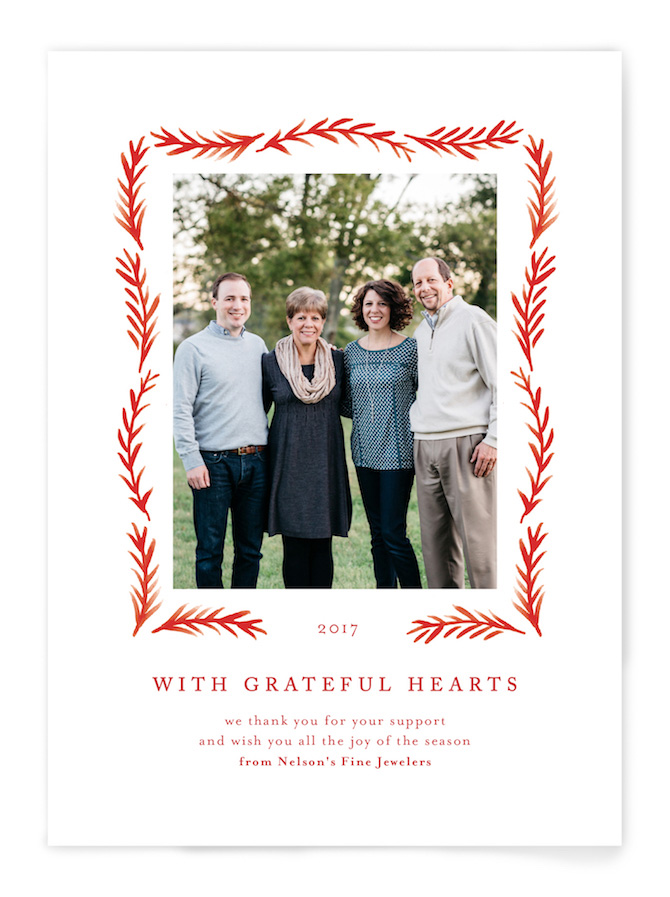 Holiday Cards Grateful Hearts by Amy Kross