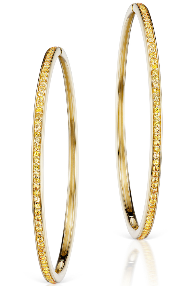 Jane Taylor yellow sapphire hoop earrings | JCK On Your Market