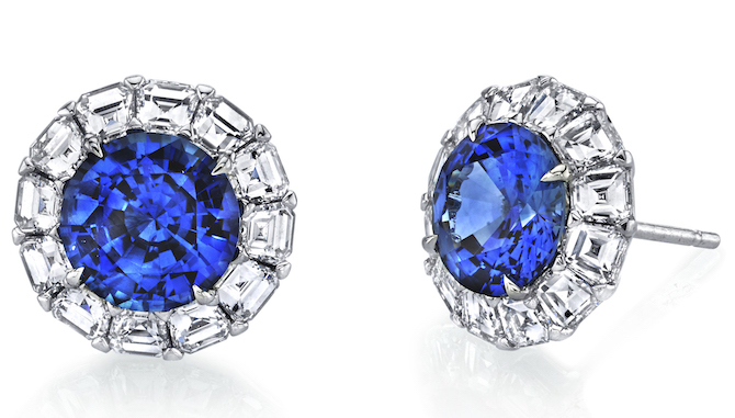 Omi Prive sapphire and diamond earrings | JCK On Your Market