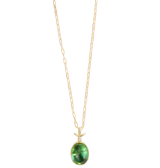 Judi Powers green tourmaline cabochon pendant | JCK On Your Market