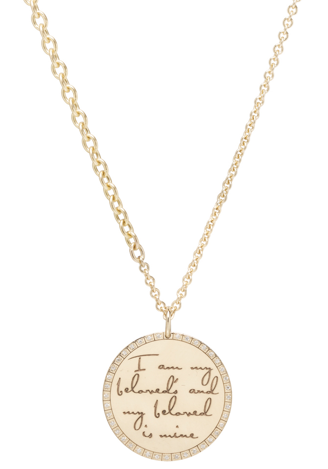 Zoe Chicco engraved disc necklace | JCK On Your Market