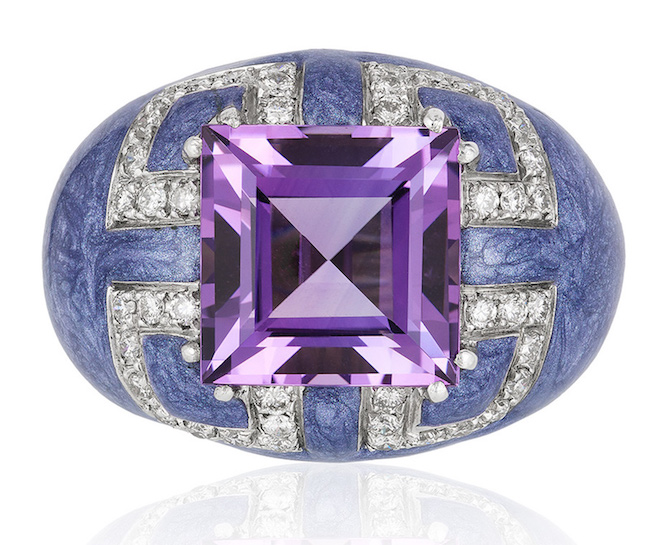 Andreoli amethyst and enamel ring | JCK On Your Market