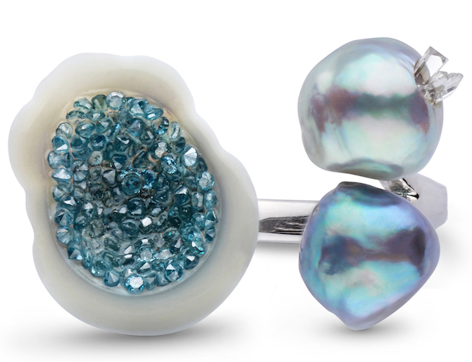 Little h blue trio ring | JCK On Your Market