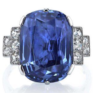 Joshua J sapphire and diamond ring