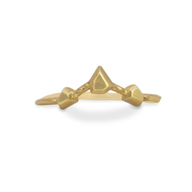Karch Wolfe 3-Point Crown Ring