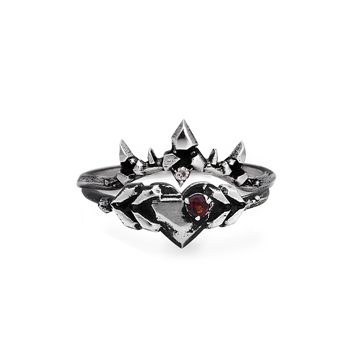 Karch Wolfe Love Struck Gem Wildfire Ring