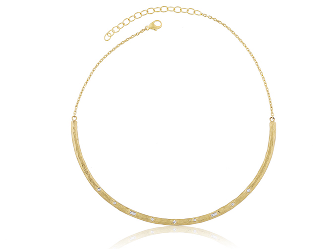 Lika Behar 22k gold Lea choker necklace