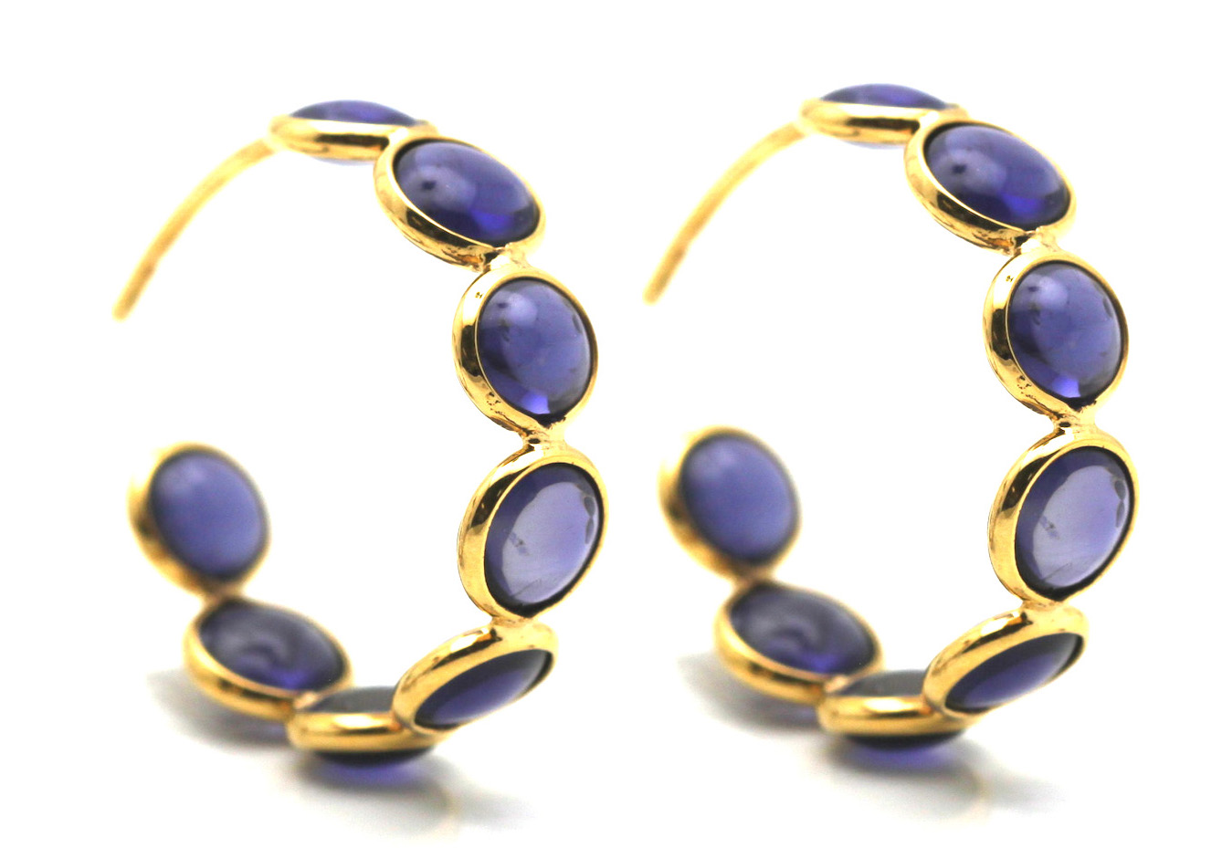 Tresor iolite hoop earrings | JCK On Your Market