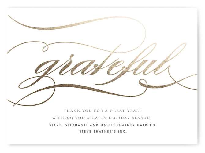 Minted Holiday Card Gratefully Yours By Snow and Ivy copy