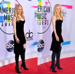 Nicole Kidman American Music Awards silver jewelry