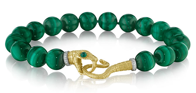 Anthony Lent malachite bracelet