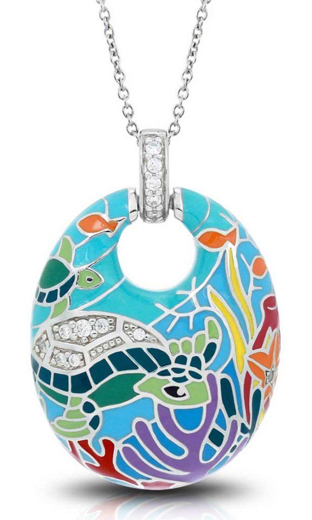 Belle Etoile sea turtle pendant