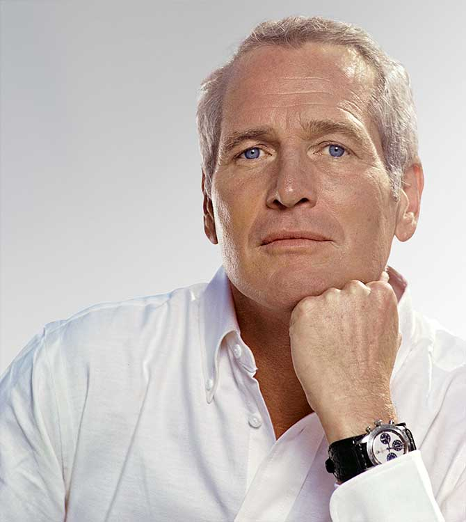 Paul Newman wearing record setting Rolex