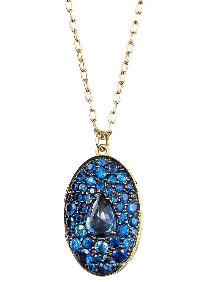 Ila blue sapphire locket