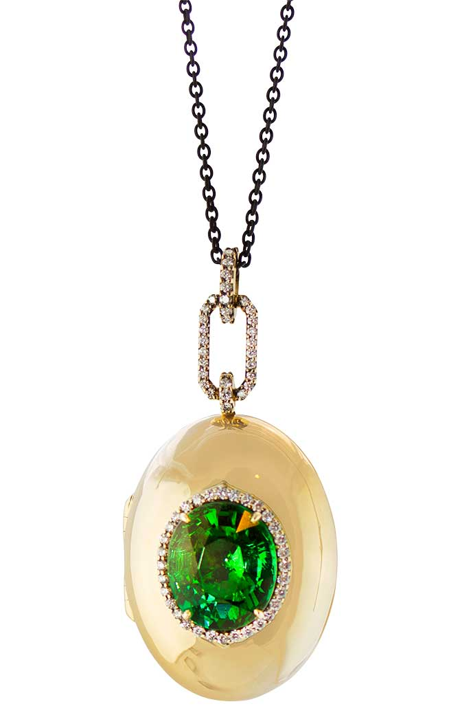 Monica Rich Kosann tourmaline locket