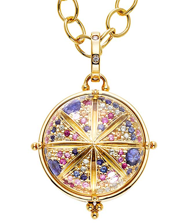 Temple St Clair sapphire and diamond locket