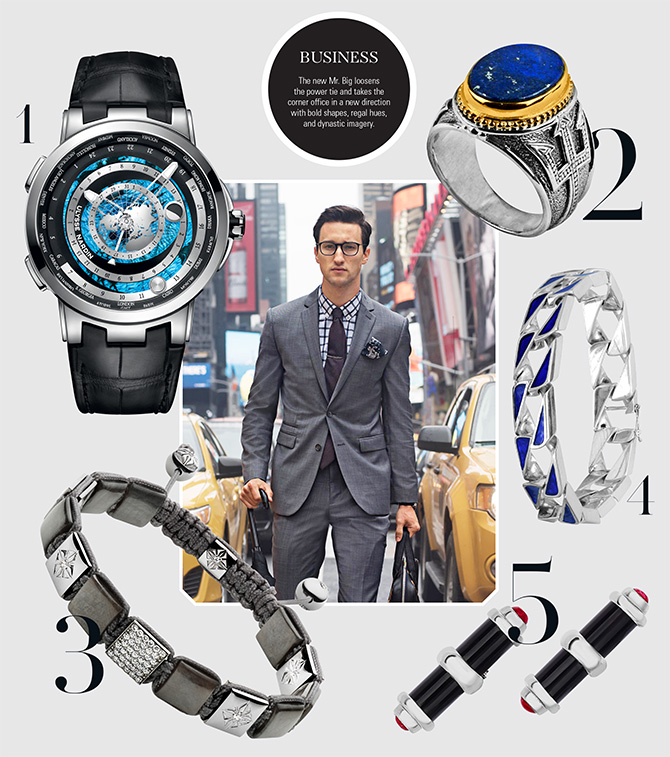business appropriate jewelry and watches for men