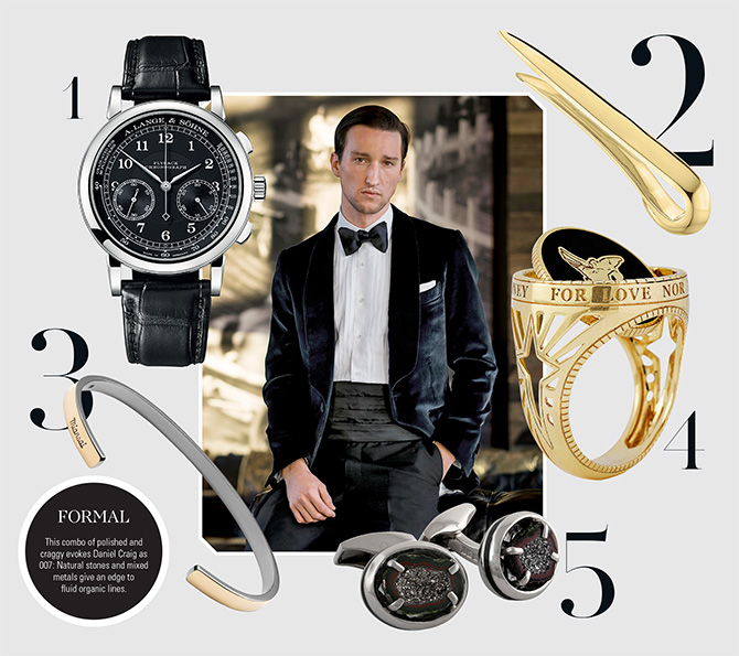 formal jewelry and watches for men