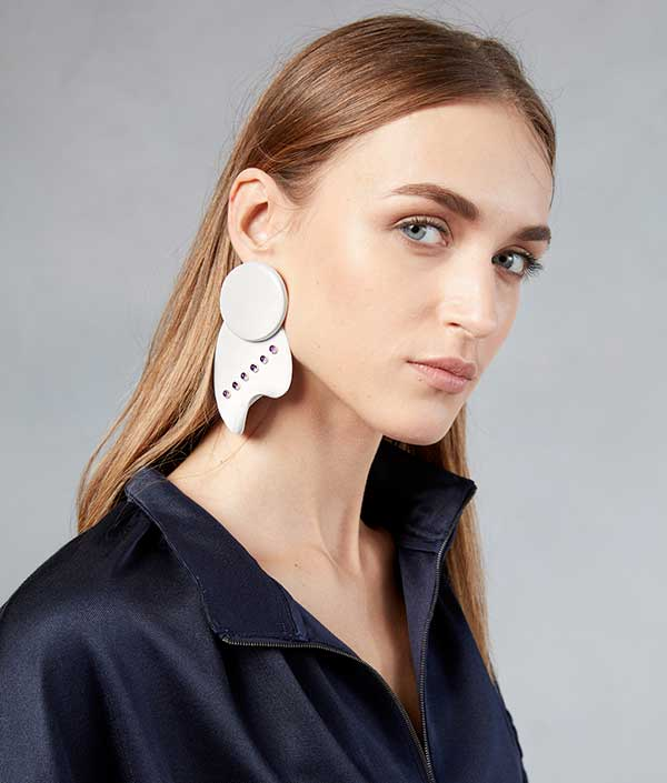 Tibi and Paige Novick ceramic earrings