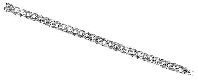 Anne Sisteron diamond chain link bracelet
