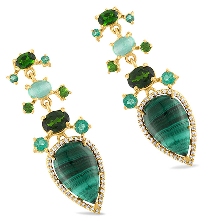 Eden Presley malachite drop earrings