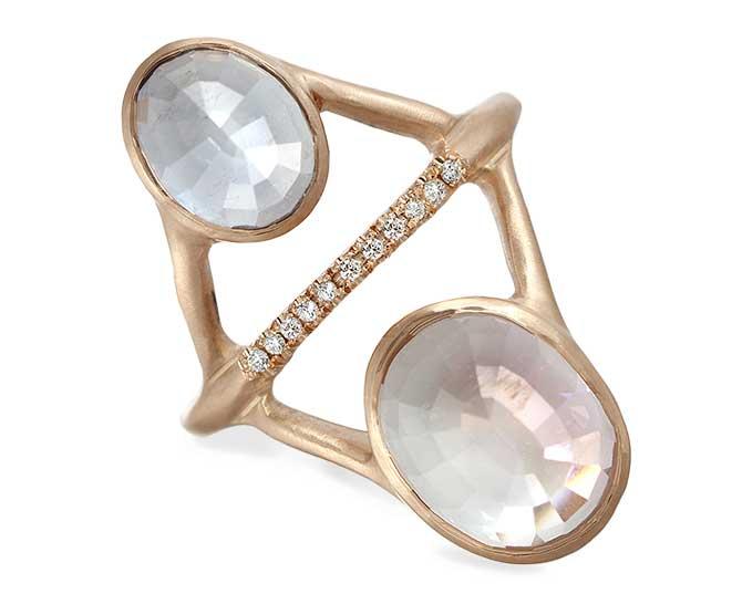 Sirciam clear tourmaline ring