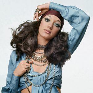 Marisa Berenson in Bulgari jewelry 1969
